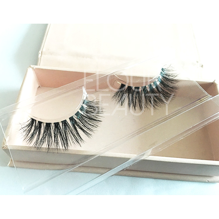 3D naked bands mink eyelashes with customized magnetic box EA107